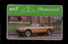 Collectible Phonecards BT Telephone card MG car Owners  #145